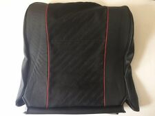 Classic Mini Seat Cover Squab - Black Leather/Red Trim - HBA10272PMA