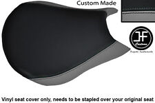 GREY & BLACK VINYL CUSTOM FITS DUCATI STREETFIGHTER FRONT RIDER SEAT COVER ONLY