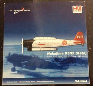 Hobby Master HA2004 1:72 Nakajima B5N2 Kate, Naval 12th Flying Group, China 1940