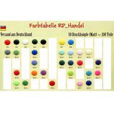 10 25 oder 50 Nähfrei Druckknöpfe Original Kam Snaps MATT - Farbwahl T5 Buttons