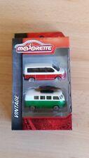 Majorette 212052011 - Vintage Cars 2Er Set - Vw T1 & Vw T6 -Neu