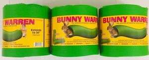 SNUGGLE SAFE ALL WEATHER EXTENDABLE RABBIT, BUNNY WARREN X3 TRIPPLE PACK 760mm