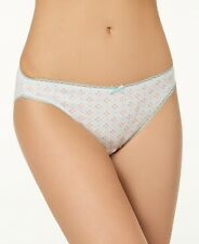 Charter Club Pretty Cotton Bikini Geomancy White Medium