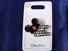 Disney * I ONLY LOOK LIKE A GROWN UP - MICKEY EARS HAT * New on Card Trading Pin
