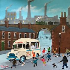 More details for mal.burton original oil painting. ice cream van northern art direct from artist