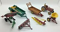 x7 Vintage Dinky Corgi Toys Tractor Farm Machinery Accessories Massey Harris etc