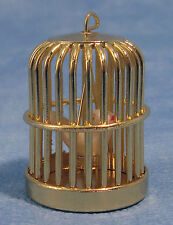 1:12 Scale Dolls House Miniature Metal Bird Cage With A Bird Pet Accessory