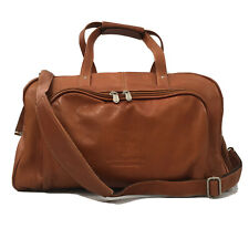 Piel Deluxe Carry-on Duffel Bag Saddle Leather Travel Handmade