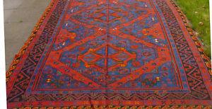 Antiker Teppich SUMAKH DAGESTAN XIX Jahrhundert Familienerbstück 360x190