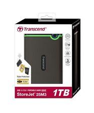 "Transcend 1TB 2.5"" USB 3.0 Military-Grade Shock Resistance Portable (PC & Mac)"