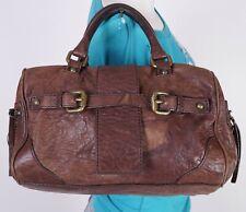 CLUB MONACO Small Brown Leather Shoulder Hobo Tote Satchel Purse Bag