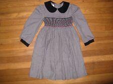 Bonnie Jean Vintage Size 5/6 Christmas Holiday Dress Black Velour Long Sleeve