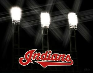 Cleveland Indians Jacobs Progressive Field Signed 11x14 Print Photograph