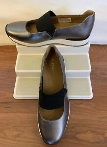NEW Vionic Women's Cosmic Cadee Mary Jane Walking Shoes in Pewter Leather Size 8