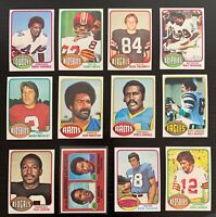 Lot of 12 1976 Topps Football Cards w/ O.J. Simpson LL - Nice Condition