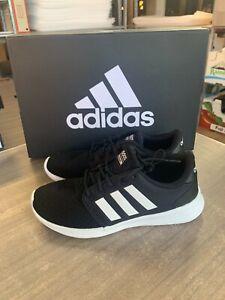 NEW Adidas Women's QT Racer Black White Memory Foam Running Shoes - PICK SIZE