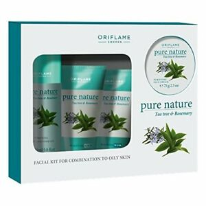 Oriflame Pure Nature TeaTree & Rosemary Facial Kit for Combination to Oily Skin
