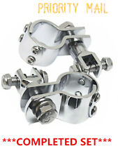 1-1/4'' 32mm Highway Crash Bar Foot Peg Clamps Engine Guard For Harley NEW