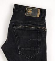 G-Star Brut Hommes Neuf Radar Slim Jeans Jambe Droite Taille W34 L32 ASZ523
