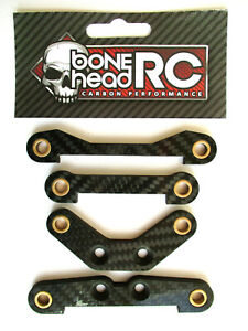BONEHEADRC CARBON FRONT/REAR PIN BRACES, 4MM, COMPATIBLE WITH HPI BAJA 5B/SS/5T