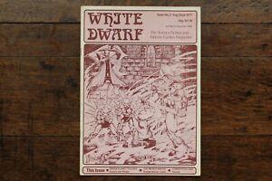 White Dwarf Issue No. 2 Aug Sept 1977 1st Reprint November 1978 WD D&D Rare UK