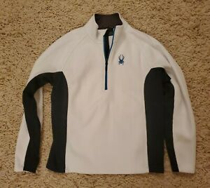 Spyder Outbound Core Stryke Mens White Black Half Zip Sweater Jacket Medium