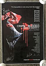 2009 CRIPS & BLOODS: MADE IN AMERICA Poster ~ SIGNED by Forest Whitaker, etc