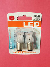 NEW - Sylvania Premium LED Light Bulb 1157R RED Brake Turn Signal LED Bulbs