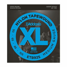 D'Addario ETB92S Short Scale Nylon Tapewound Bass Guitar Strings 50-105