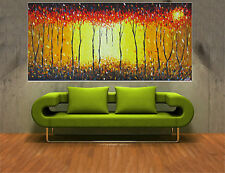 art Painting bush fire dream oil canvas Australia landscape yellow