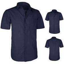 Camicia Uomo Comoda Con Taschino Cotone Regular Fit Mezza Manica Corta VEQUE