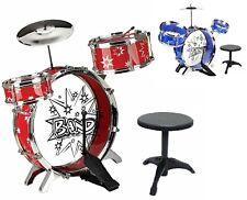 Big JAZZ Kids Drum Set Kit with Stool Sticks Musical instrument Toy XMAS GIFT RD