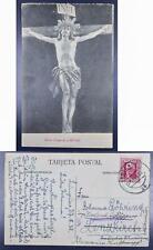 SPAIN 1932 Crucified Jesus Pic PPC Card SANTANDER to Karlsruhe , Espana, Spanien