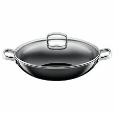 Silit Wok-Set 2-teilig unbeschichtet 36cm schwarz Made in Germany Silargan�