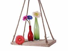 Holzbrett zum Hängen - 35x19 cm - Deko Holz Hängebrett Kordel Pflanzenhänger