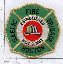 Massachusetts - Boston Gaelic Fire Brigade MA Fire Dept Patch