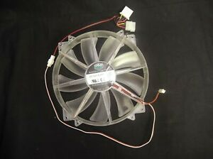 COOLER MASTER FAN A20030-07CB-3MF-C1 DC 12V .28A CLEAR 3 WIRE 200 MM X 30 MM