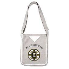 Boston Bruins NHL Littlearth Gray 12 x 10 Team Hoodie Crossbody Purse/Bag