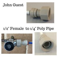 "John Guest  1/2"" Female  to 1/4"" 6mm Pipe Coffee Machine  & Fridge Filter"