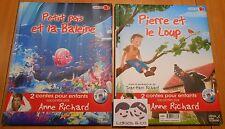 Livre CD 2 CONTES ENFANTS RACONTES PIERRE ET LE LOUP + PETIT POIS ET LA BALEINE