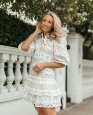 River Island Broderie Puff Sleeve Dress 6 SOLD OUT BLOGGERS Zimmermann Inspired