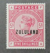 nystamps British Zululand Stamp # 11 Mint OG H $700