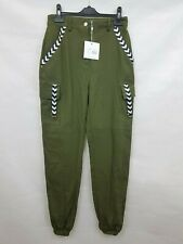 Missguided Ladies cargo trousers Green Cotton Size 6 New with tags