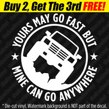 "4x4 ""GO ANYWHERE"" Vinyl Decal Sticker Mudder Swamper Lifted Truck SUV Off-Road"