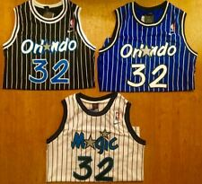 Shaquille Shaq O'Neal #32 Men's Throwback Orlando Magic BLUE/BLACK/WHITE Jersey