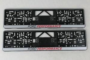 Original Ford Perfomance Kennzeichenhalter 2 Stück mit Logo silber 2372314 2x