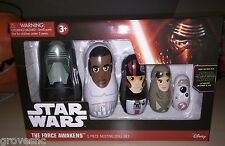 Star Wars The Force Awakens 5 piece Nesting Doll set NIB available now