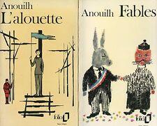 2 x JEAN ANOUILH: Fables / L'alouette (frz./francais)
