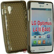 Cover Custodia Per LG L4 II 2 Optimus E440 Nero Gel Silicone TPU silicone