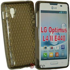 Cover Case For LG L4 II 2 Optimus E440 Black Gel Silicone TPU Silicone